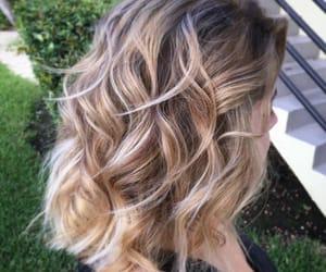 blonde, brown, and dip dye image