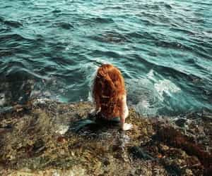 photography, mermaid, and red hair image