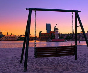 beautiful, swing, and beach image