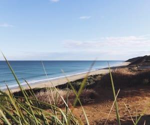 beach, coast, and landscape image