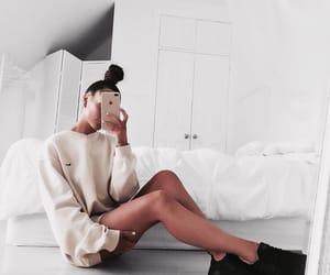 aesthetic, bun, and fashion image