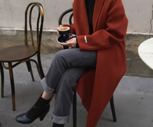 fashion, coat, and red image