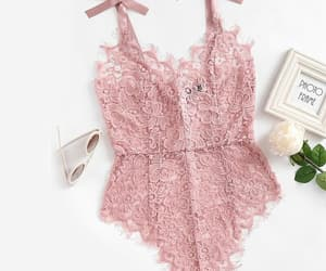 fashion, pink, and lingerie image