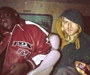 kurt cobain, biggie, and nirvana image