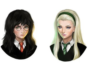harry potter, girl version, and female harry potter image