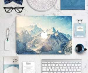 apple, mountains, and design image