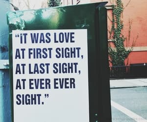 love, quotes, and first sight image