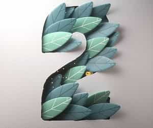 art, leaves, and Paper image