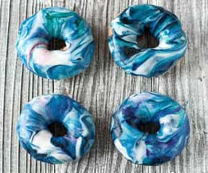 blue, candy, and donuts image