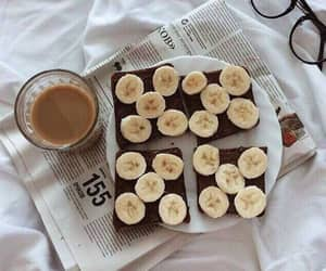 banana, breakfast, and coffee image