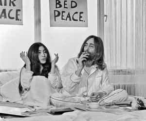 john lennon, peace, and Yoko Ono image