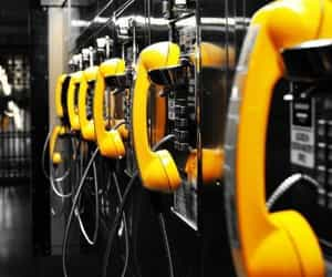 yellow and phone image