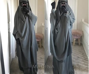 hijab, muslim girl, and khimar image