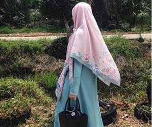 blue, girl, and hijab image