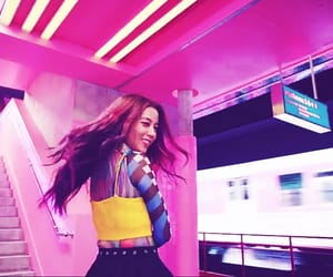 blue, pink, and kpop gif image