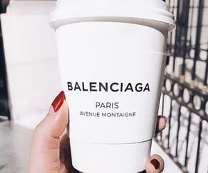 coffee, Balenciaga, and nails image