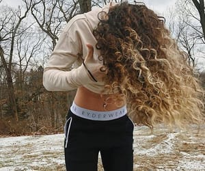 curly, fashion, and long image