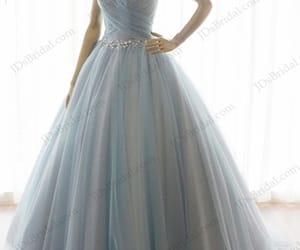gray blue wedding dress, dusty blue bridal dress, and 2018 blue wedding dresses image