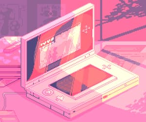 pink, pixel, and game image