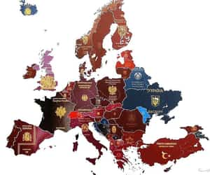 europe, geography, and map image