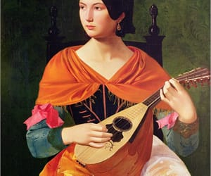 art, painting, and lute image