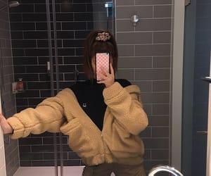 girl, selfie, and model image