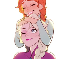anna, disney, and elsa frozen image