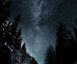 cold, snow, and stars image
