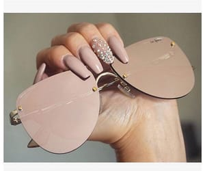 fashion, nails, and sunglass image