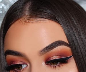 eyes, eyelashes, and eyeshadow image