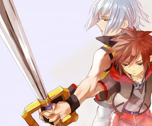 blue eyes, handsome, and kingdom hearts image