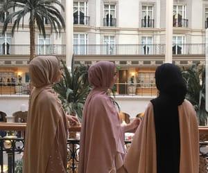 hijab, girl, and arab image