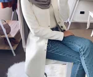 hijab and white image