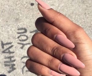 nails, hand, and pink image