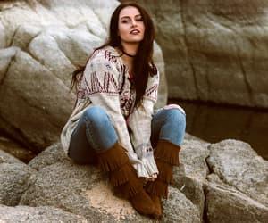 bohemian, fashion blogger, and minnetonka moccasin image
