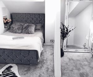 bed, classy, and grey image