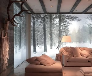 home, interior, and winter image