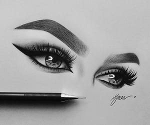 adorable, black and white, and drawing image