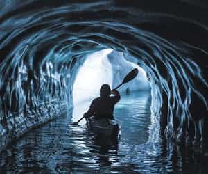 blue, cave, and nature image