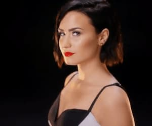 black, demi lovato, and w&b image