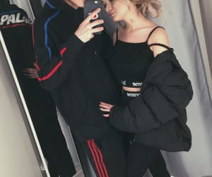 blonde, hair, and couple image