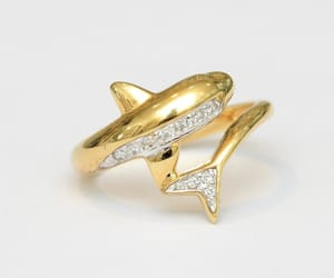 dolphin, gold, and jewelry image