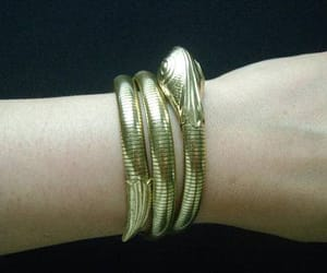 etsy, gold filled jewelry, and gold snake bracelet image