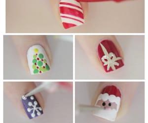 art, nails, and christmas image