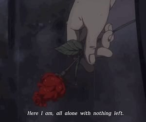alone, idk, and roses image
