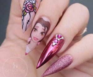 beauty, nail, and belle image