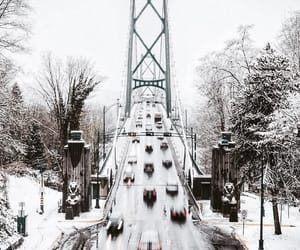 winter, bridge, and snow image