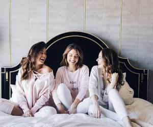 bed, friends, and fun image