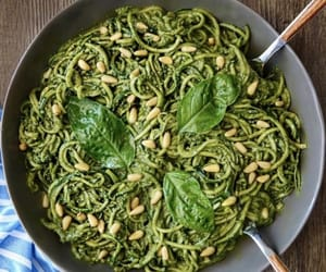 avocado, basil, and pine nuts image