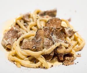 cream, mushroom, and pasta image